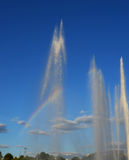 Fountain with the rainbow Royalty Free Stock Image