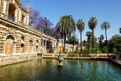 Real Alcazar Gardens, Sevilla Stock Image