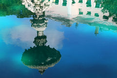 Fountain reflection at Dolmabahce palace Royalty Free Stock Images