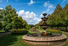 Fountain in Regent's Park stock images