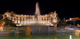 Fountain at Republic Square - Rome. Fountain at Republic Square / Rome - Italy Stock Photo