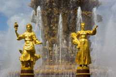 Fountain of the Republics 1, Moscow, Russia Royalty Free Stock Photo