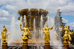 Fountain of the Republics 2, Moscow, Russia Royalty Free Stock Image