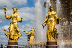 Fountain of the Republics 6, Moscow, Russia Stock Image