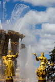Fountain of the Republics statues, Moscow, Russia Stock Photography