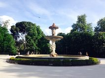 Fountain in Retiro Park Madrid Spain Royalty Free Stock Photography