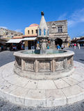 Fountain in Rhodes Island Greece Royalty Free Stock Photography