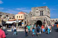 Fountain in Rhodes Island Greece Royalty Free Stock Photo