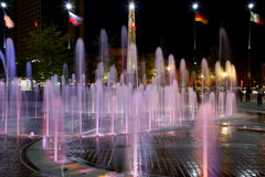 Fountain of Rings in Centennial Olympic Park Stock Image