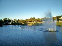 Fountain. On the river along Adelaide Oval Royalty Free Stock Photography