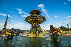 Fountain of River Commerce and Navigation at the Place de la Con Royalty Free Stock Photography