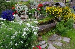 Fountain in a rock garden Stock Photography