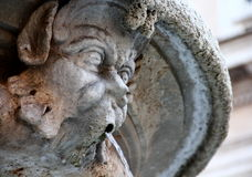 Fountain in Rome. Detail of fountain  in Rome, Italy Royalty Free Stock Photography