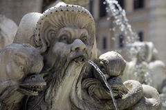 Fountain in Rome, Italy Stock Photos