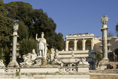 The fountain of Rome Between the Tiber and the Aniene Stock Photos