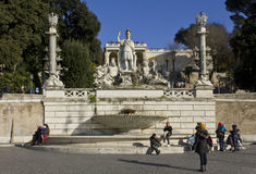 The fountain of Rome Between the Tiber and the Aniene Royalty Free Stock Photography