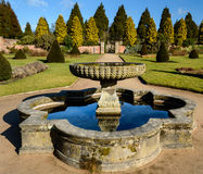 Fountain in the Rose Gardens at Newstead Abbey Royalty Free Stock Photos