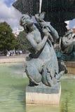 Fountain in the Rossio Square, Lisbon Stock Photo