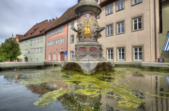 Fountain in Rothenburg ob der Tauber, Germany Royalty Free Stock Images