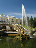 Fountain in royal palace. (St. Petersburg, Russia Stock Photo