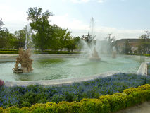 Fountain of the Royal Palace of Aranjuez garden. In Spain Stock Photo