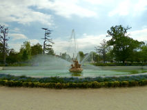 Fountain of the Royal Palace of Aranjuez garden. In Spain Royalty Free Stock Image