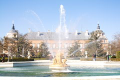 Fountain of the royal palace of Aranjuez, Madrid. Main fountain of the gardens of the Royal Palace of Aranjuez Royalty Free Stock Photo