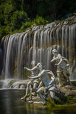 Fountain at royal palace - caserta Royalty Free Stock Photos