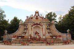 Fountain. Royal Palace of La Granja de San Ildefonso, Segovia, Spain. The Royal Palace of La Granja de San Ildefonso is one of the three residences of the Royalty Free Stock Photos
