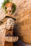 The fountain at the royal palace in Mallorca, Spain Royalty Free Stock Photography