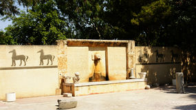 Fountain in the ruins of Byrsa, Carthage, Tunisia Royalty Free Stock Image