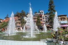 Fountain in Sa Pa city center, north Vietnam Stock Photo