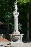 Fountain at Sacro Monte of Varallo holy mountain Stock Image