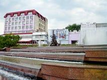 Fountain Sadko in summer, Sumy, Ukraine Royalty Free Stock Image