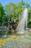 Fountain Sadko in Veliky Novgorod Stock Images