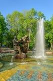 Fountain Sadko in Veliky Novgorod Stock Photos