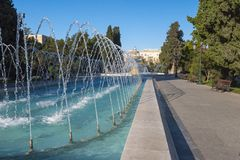 Fountain in Sahil park Royalty Free Stock Photography