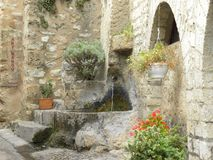 Fountain in Saint-guilhem-le-desert, a village in herault, languedoc, france royalty free stock photography