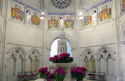 Fountain in Saint John Divine Church Stock Images
