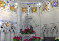 Fountain in Saint John Divine Church Stock Photo