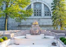 Fountain of Saint Joseph`s Oratory of Mount Royal stock photo