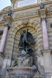 The fountain of Saint-Michel Stock Photography