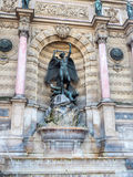 Fountain Saint Michel in Paris, France Royalty Free Stock Photography