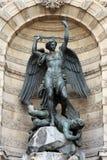 Fountain Saint-Michel in Paris Royalty Free Stock Photos