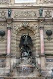 Fountain Saint-Michel in Paris Royalty Free Stock Photo