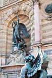 Fountain Saint Michel in Paris Royalty Free Stock Photos