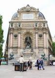 Fountain Saint-Michel Stock Photo
