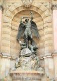 Fountain Saint-Michel Stock Photography