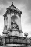 Fountain Saint-Sulpice in Paris, France Stock Images