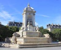 Fountain Saint-Sulpice Stock Photo